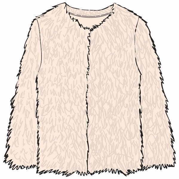 Korte jas, fake fur, L/M