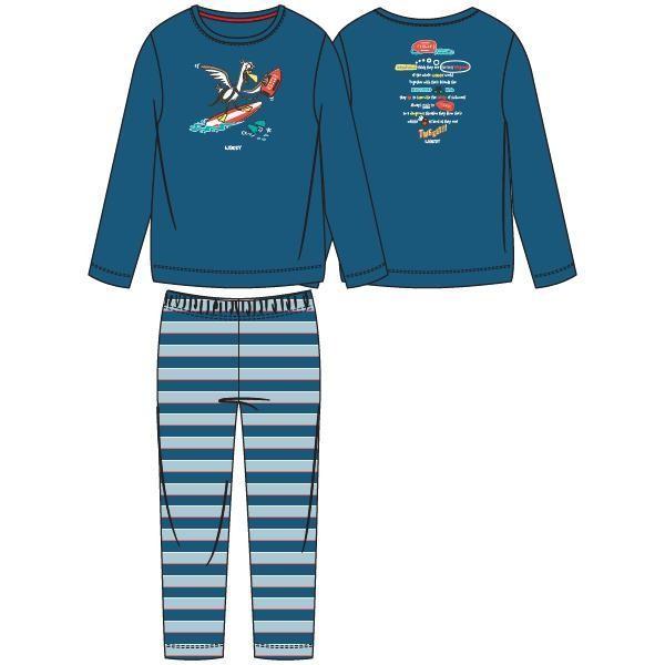 Jongens-Heren pyjama, blauw