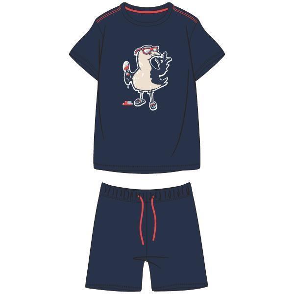 Jongens-Heren pyjama, donkerblauw