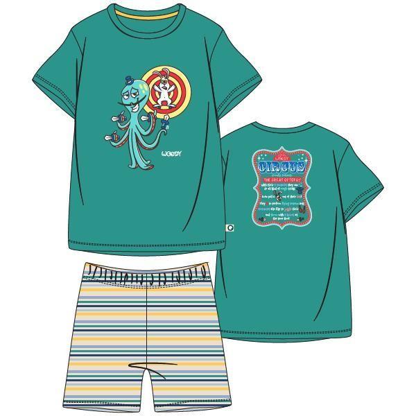 Jongens-Heren pyjama, groen