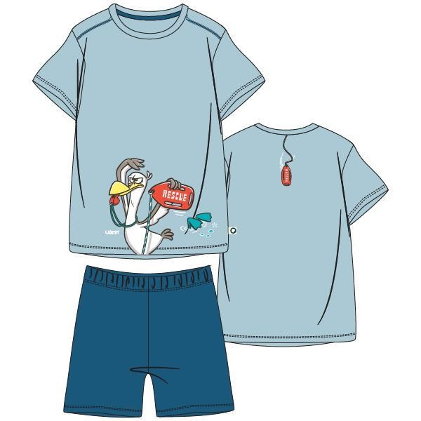 Jongens-Heren pyjama, lichtblauw