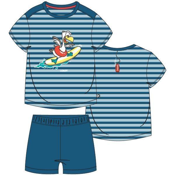 Jongens pyjama, blauw-rood gestreept
