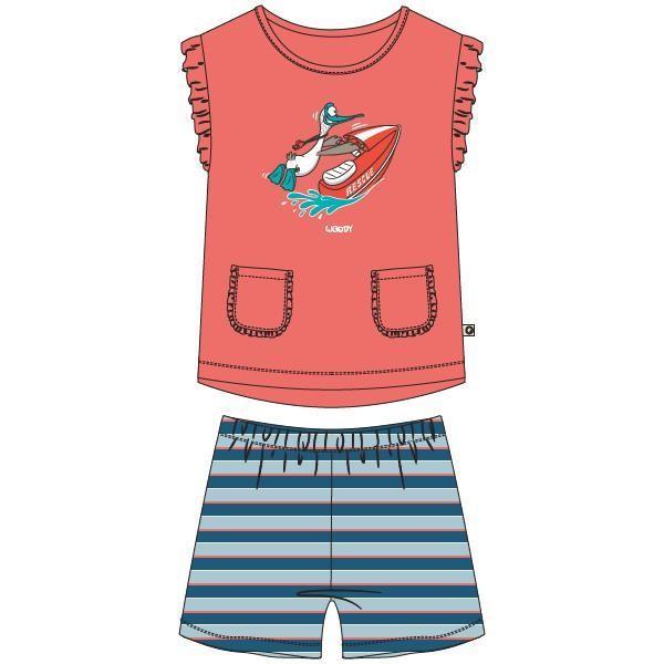 Meisjes-Dames pyjama, koraalroze