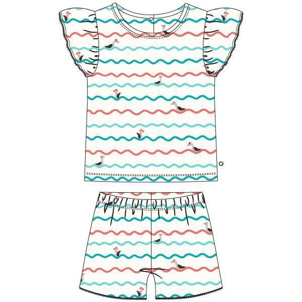 Meisjes pyjama, meeuwen golven geprint