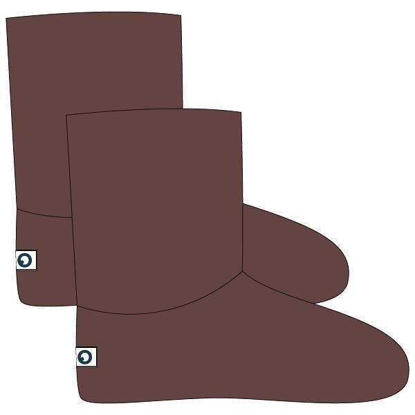 Pantoffels, bruin