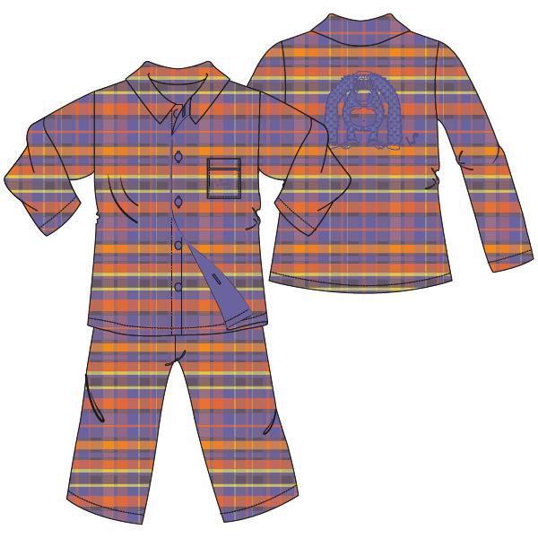 Uniseks pyjama, doorknoop, L/M