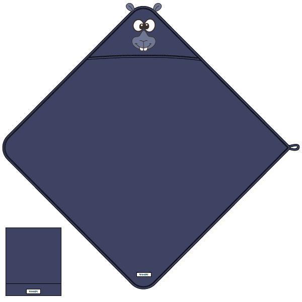 Unisex Badcape, donkerblauw