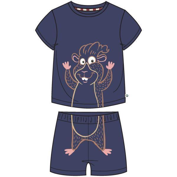 Unisex pyjama, donkerblauw
