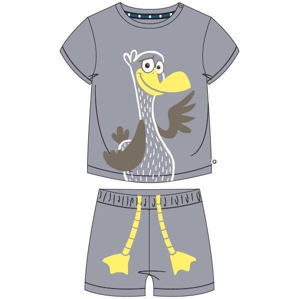 Unisex pyjama, grijs melé